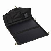 14 Watt Zonnepaneel USB Telefoon Tablet Oplader | Zwart