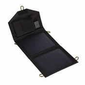 7 Watt Zonnepaneel USB Telefoon Oplader | Zwart