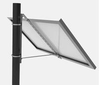 Aluminium Mastbeugel enkel paneel klein Hellingshoek 45°