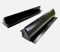 Aluminium Montagespoiler AZM55B Zwart 550mm (set 2 st)