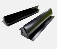 EnjoySolar® Aluminium Montagespoiler AZM55B Zwart 550 mm.