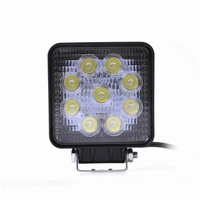 LED Richtlamp 27W 12V / 24V DC Rechthoekig