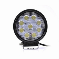 LED Richtlamp 27W 12V / 24V DC Rond