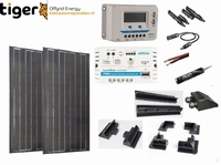 340 Watt Zonnepaneel Set Mono Full Black 1460x1328 mm