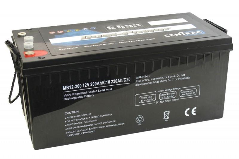 Centrac AGM Dual Power Accu's | 1.2Ah t/m 270Ah
